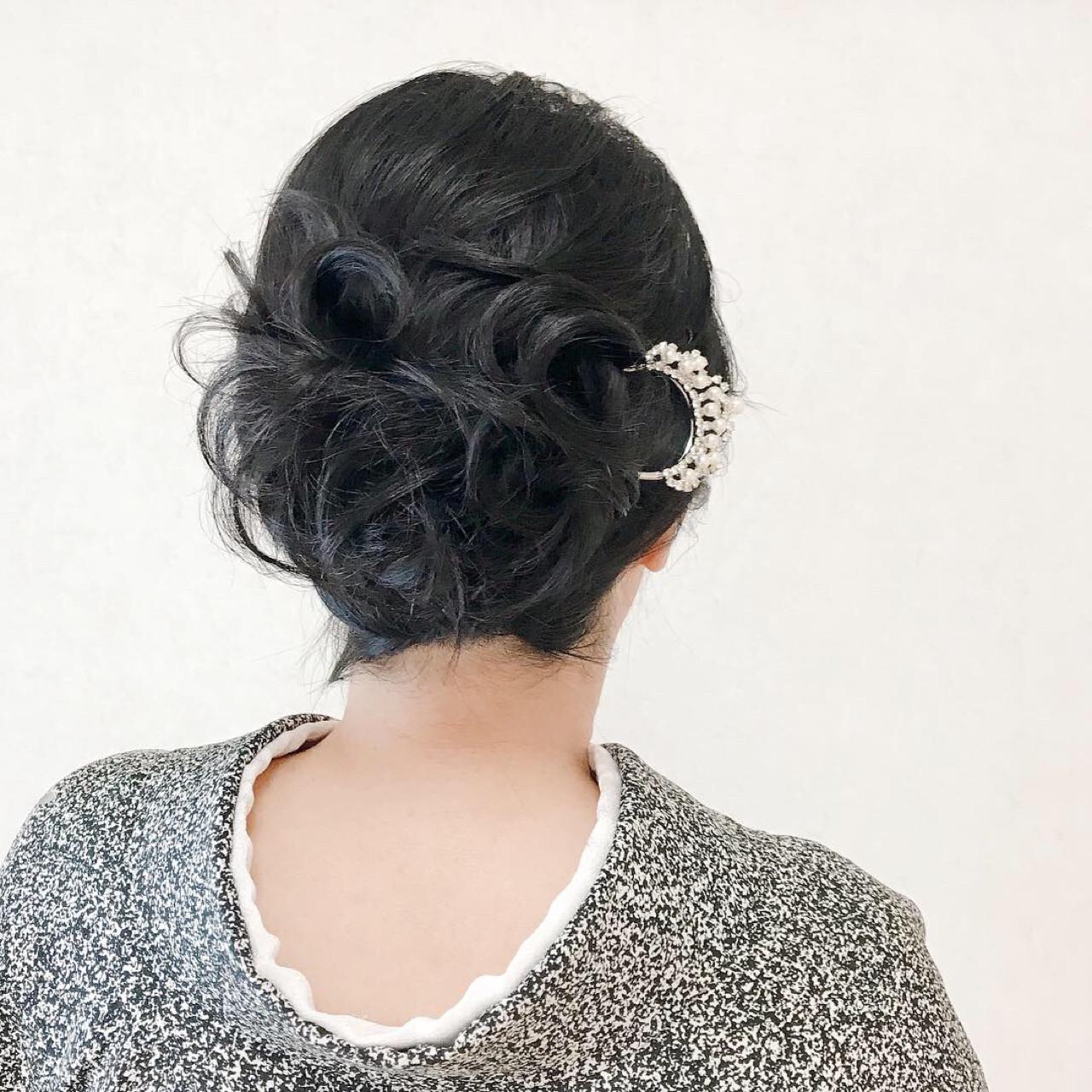 結婚式 着物 和装 ヘアアレンジ ヘアスタイルや髪型の写真・画像 | Moriyama Mami / 福岡天神ヘアセット・着付け専門店【Three-keys】