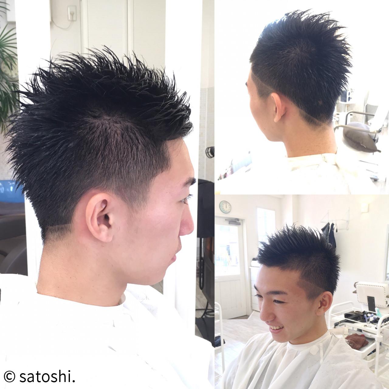 坊主 メンズ ショート ストリート ヘアスタイルや髪型の写真・画像   伊藤 悟史 / flower,sun&rain