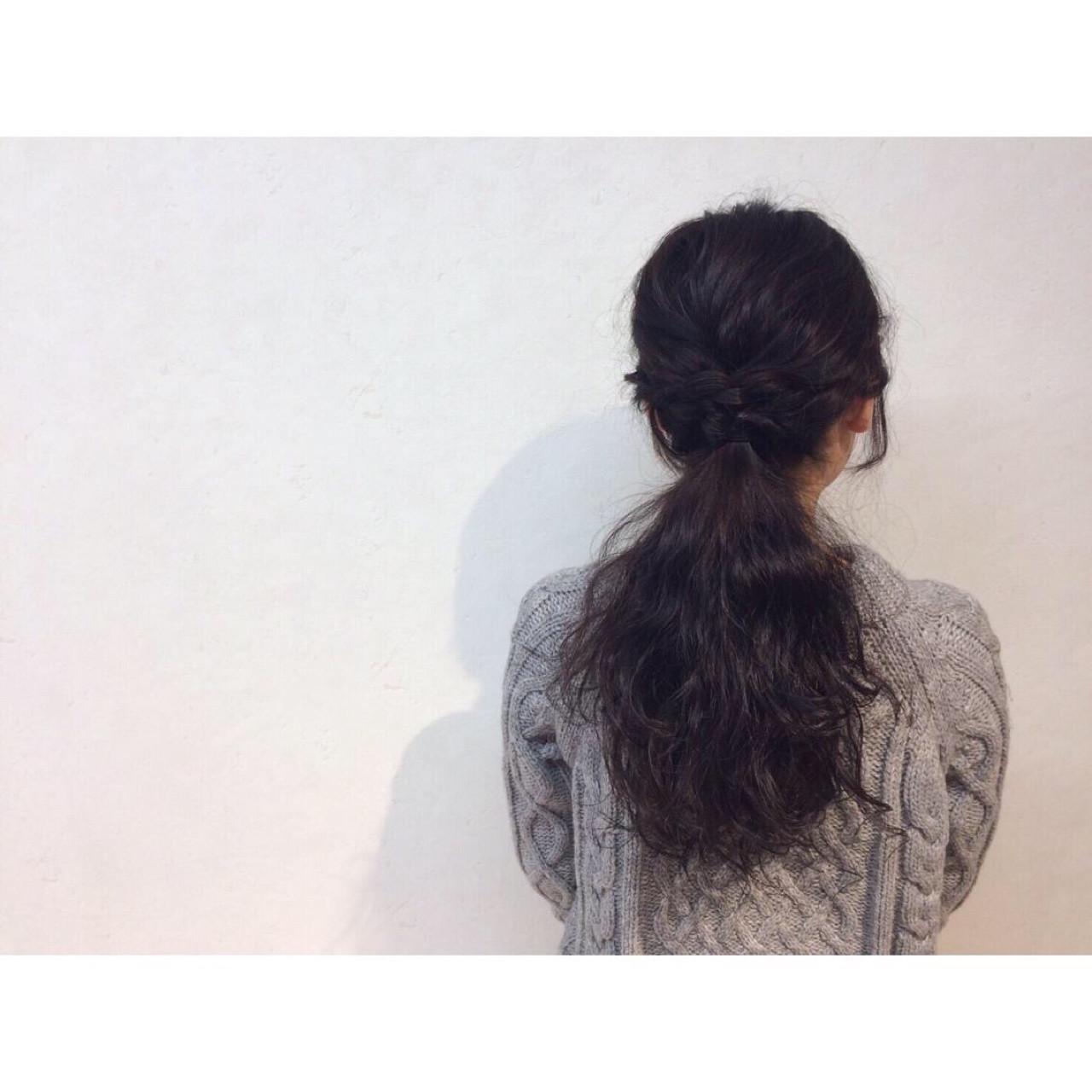 ナチュラル ロング ゆるふわ ヘアアレンジ ヘアスタイルや髪型の写真・画像   坂本 瑞希 / Lia by KENJE