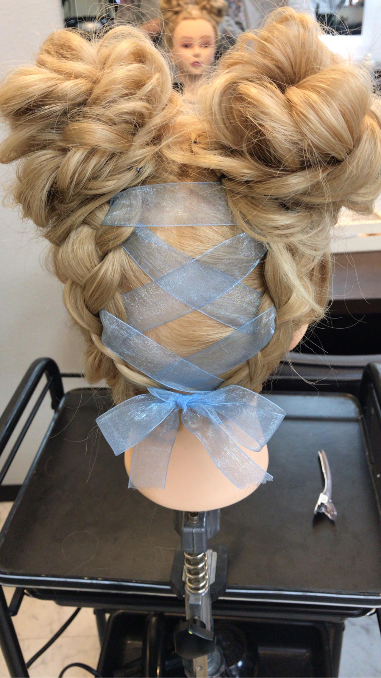 デート セミロング ガーリー 簡単ヘアアレンジ ヘアスタイルや髪型の写真・画像 | ☆tano☆ / ALION