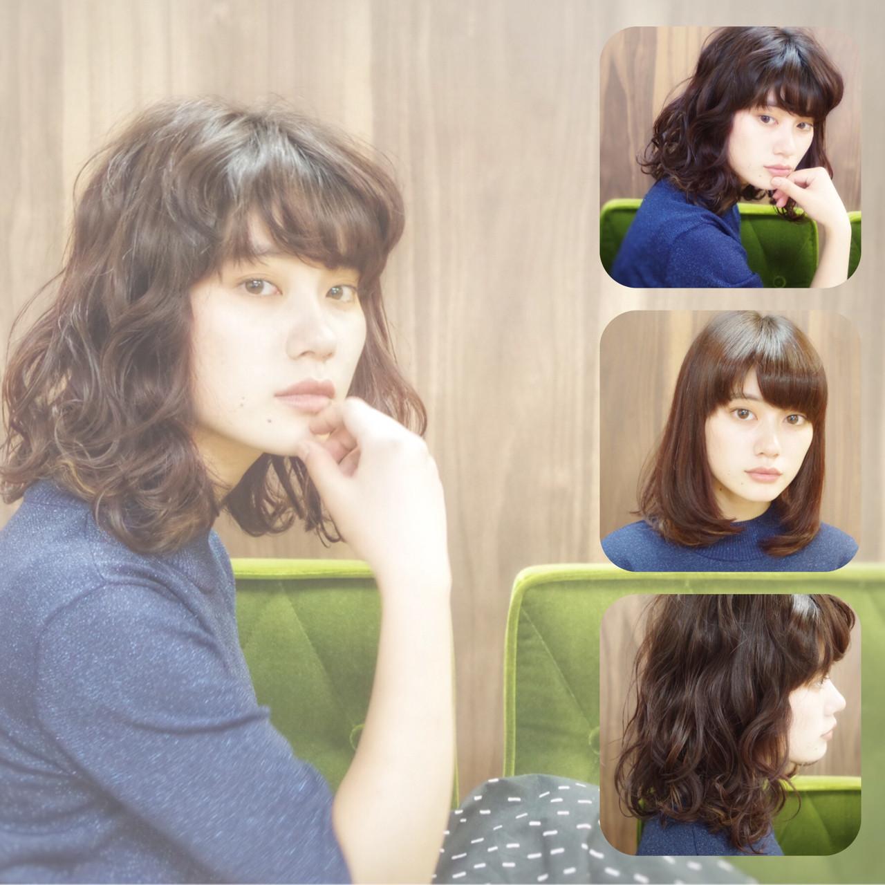 ワイドバング 黒髪 前髪あり ナチュラル ヘアスタイルや髪型の写真・画像 | 山本悠平 / hair salon nano