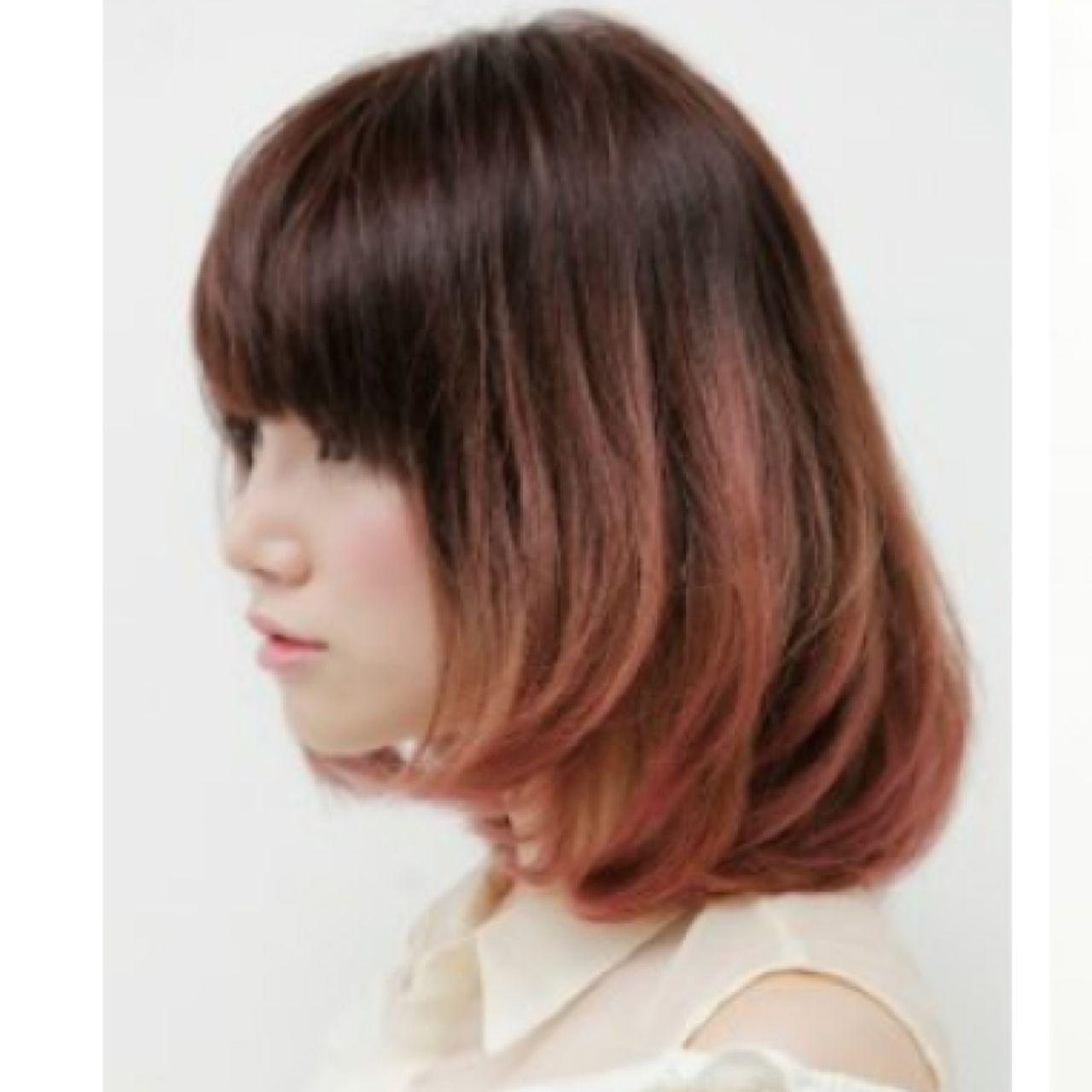 ハイトーン グラデーションカラー ヘアスタイルや髪型の写真・画像