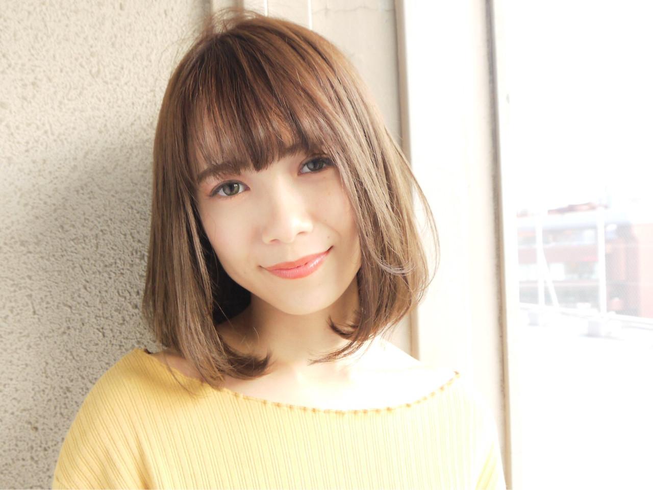 オフィス 小顔 大人かわいい コンサバ ヘアスタイルや髪型の写真・画像 | HIROKI / roijir / roijir