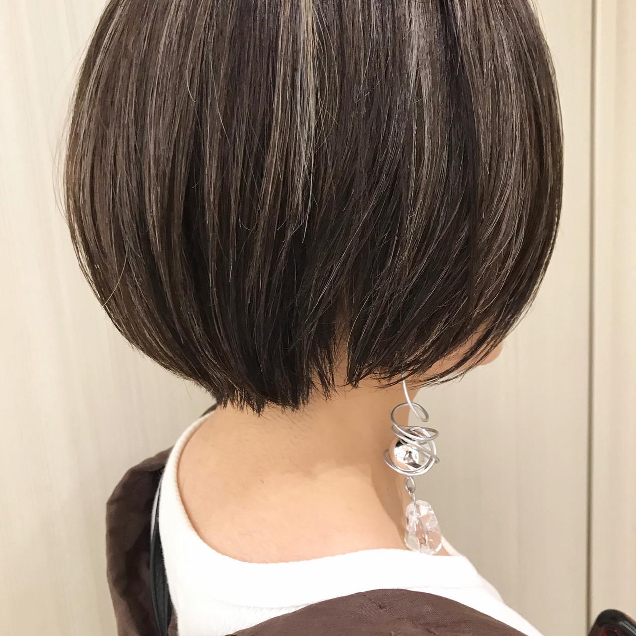 デート まとまるボブ ナチュラル 簡単スタイリング ヘアスタイルや髪型の写真・画像