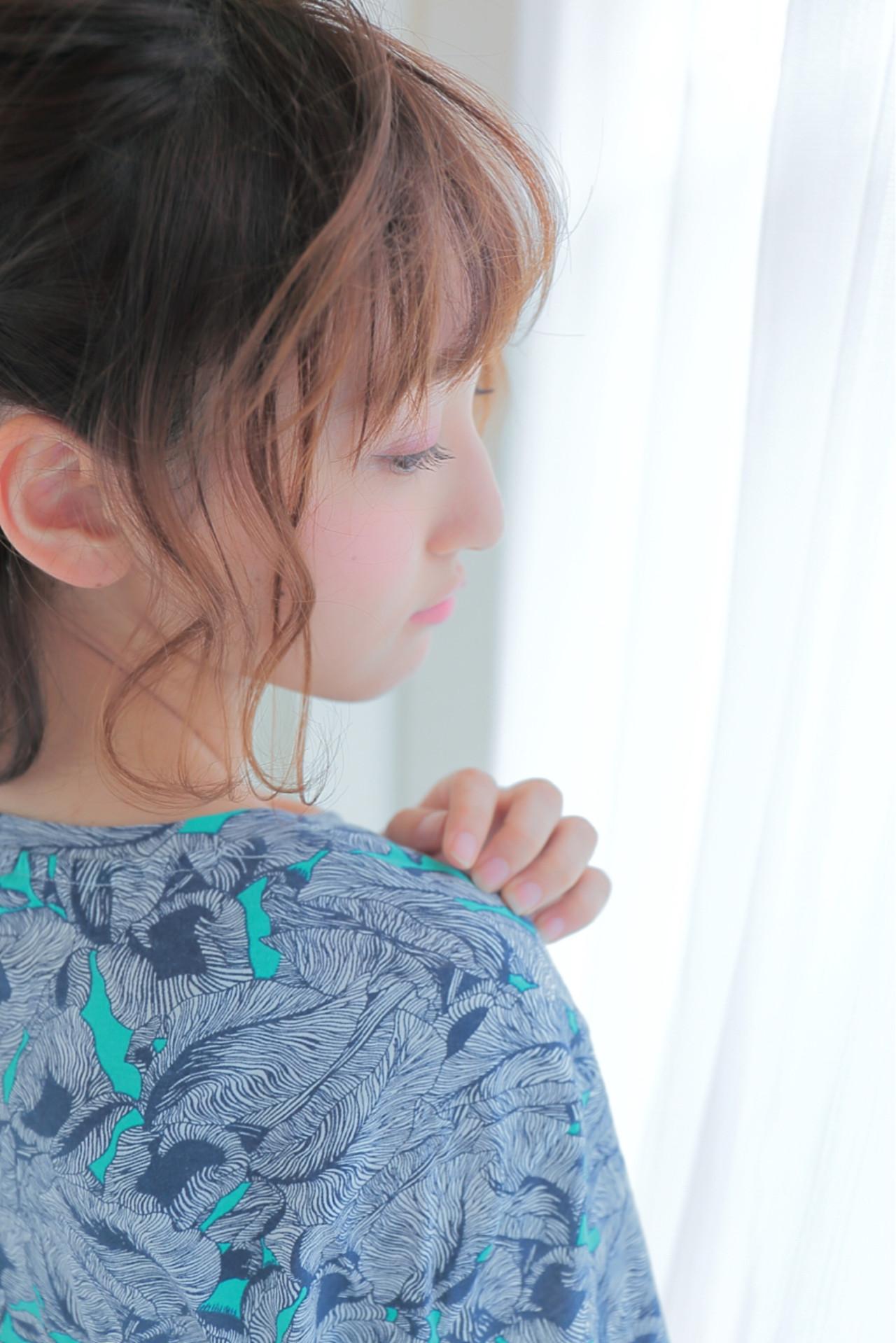 パーティ 波ウェーブ フェミニン ヘアアレンジ ヘアスタイルや髪型の写真・画像