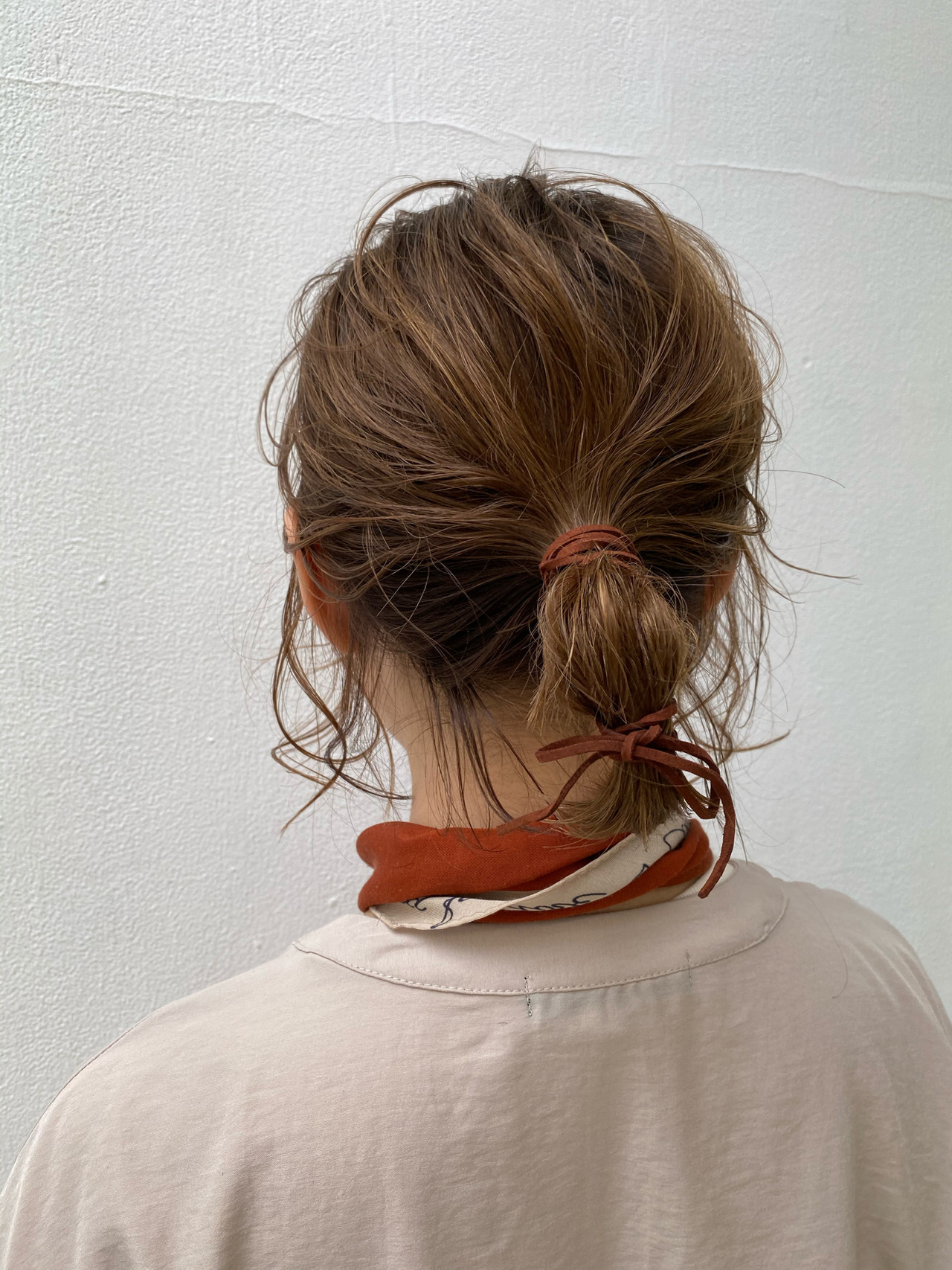 簡単ヘアアレンジ ボブ ナチュラル ハイライト ヘアスタイルや髪型の写真・画像