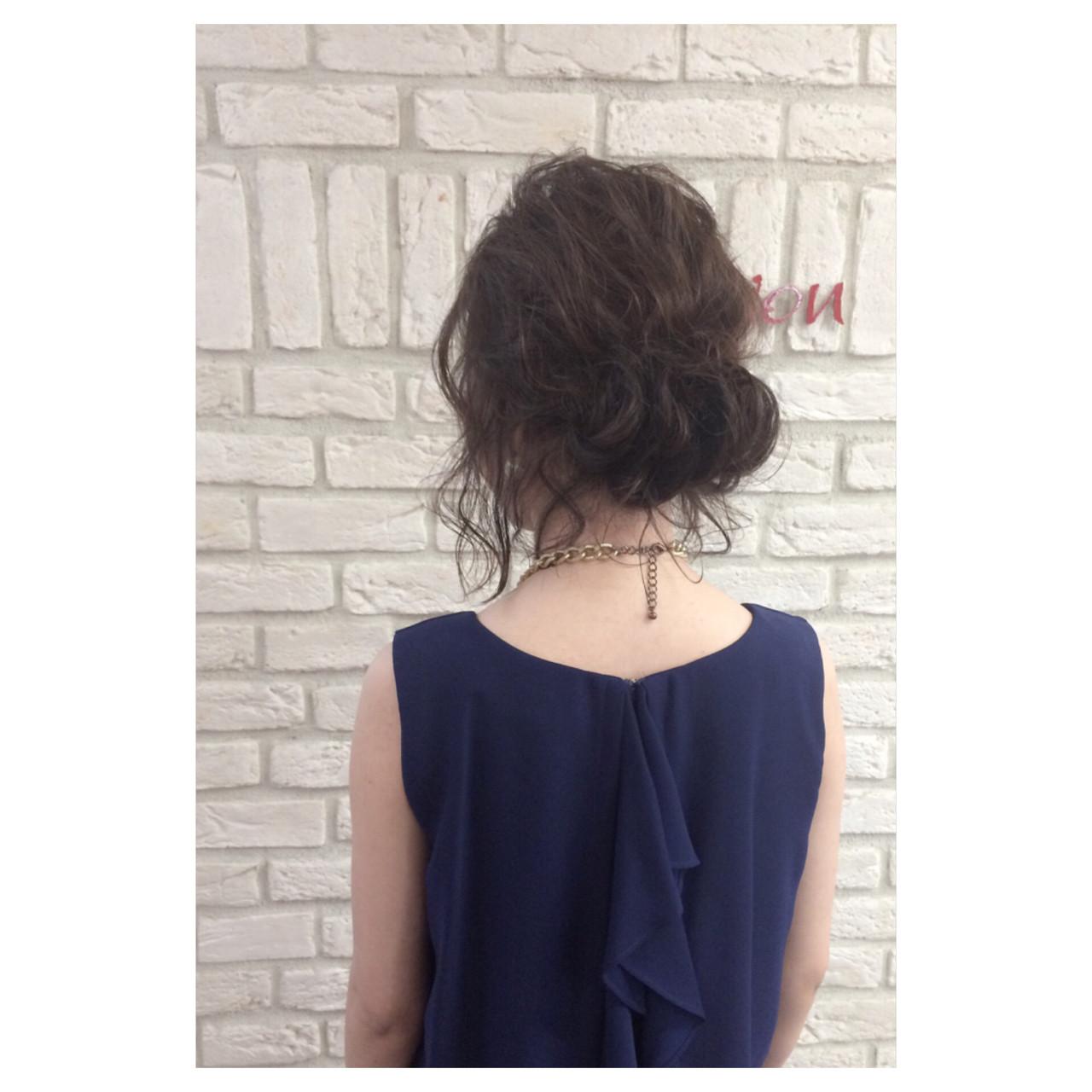 外国人風 夏 ミディアム パーティ ヘアスタイルや髪型の写真・画像 | 斉藤 友美 / hair Mission
