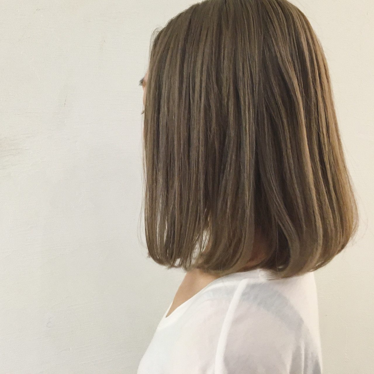 ストリート アッシュ 切りっぱなし ダブルカラー ヘアスタイルや髪型の写真・画像