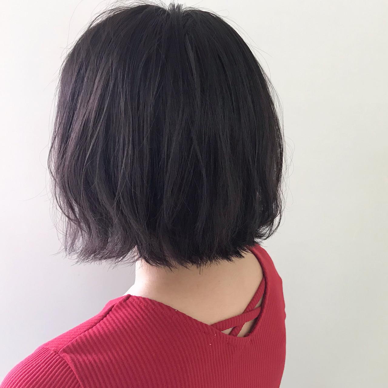ボブ ナチュラル 簡単ヘアアレンジ アンニュイほつれヘア ヘアスタイルや髪型の写真・画像   新谷 朋宏 / Free hairstylist shinya
