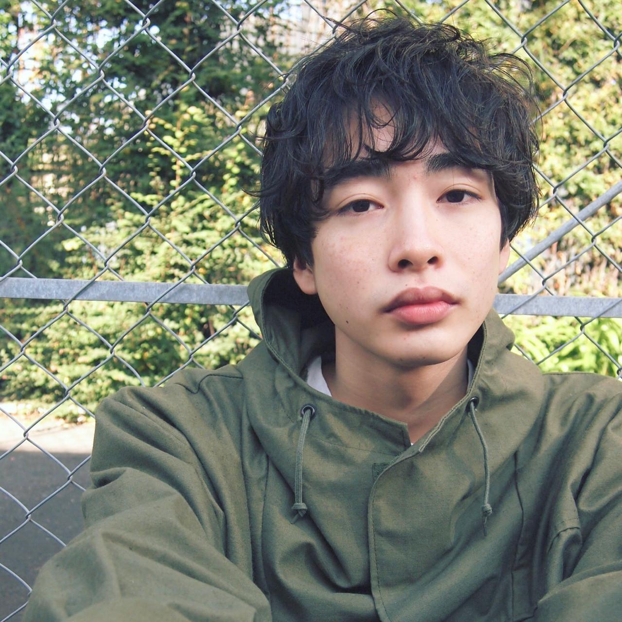 ニュアンス メンズ ショート 黒髪 ヘアスタイルや髪型の写真・画像 | UEKI/nanuk / nanuk二子玉川
