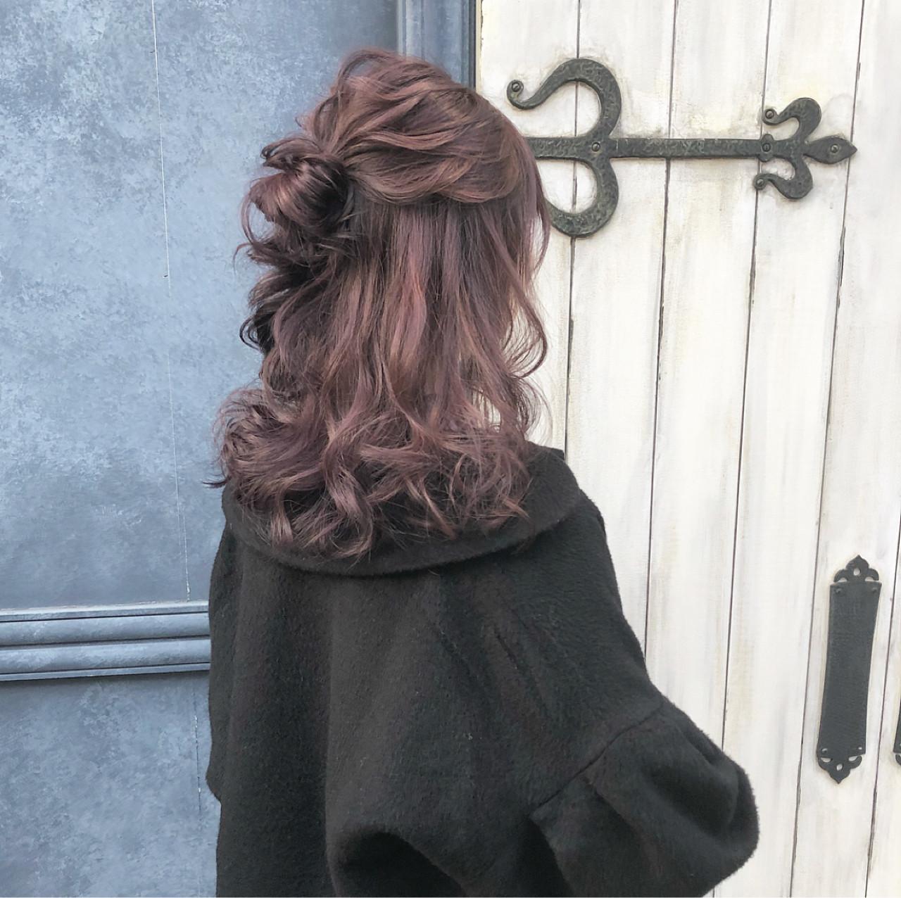 ヘアアレンジ 大人かわいい ガーリー デート ヘアスタイルや髪型の写真・画像