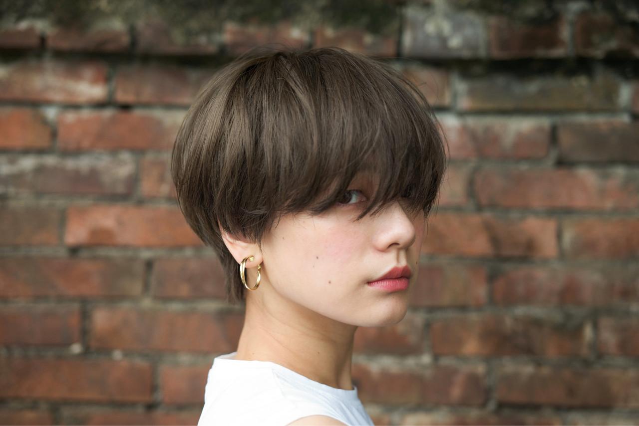 マッシュ ショートヘア アンニュイほつれヘア ショートボブ ヘアスタイルや髪型の写真・画像 | 佐脇 正徳 / LOAVE AOYAMA(ローヴ アオヤマ)