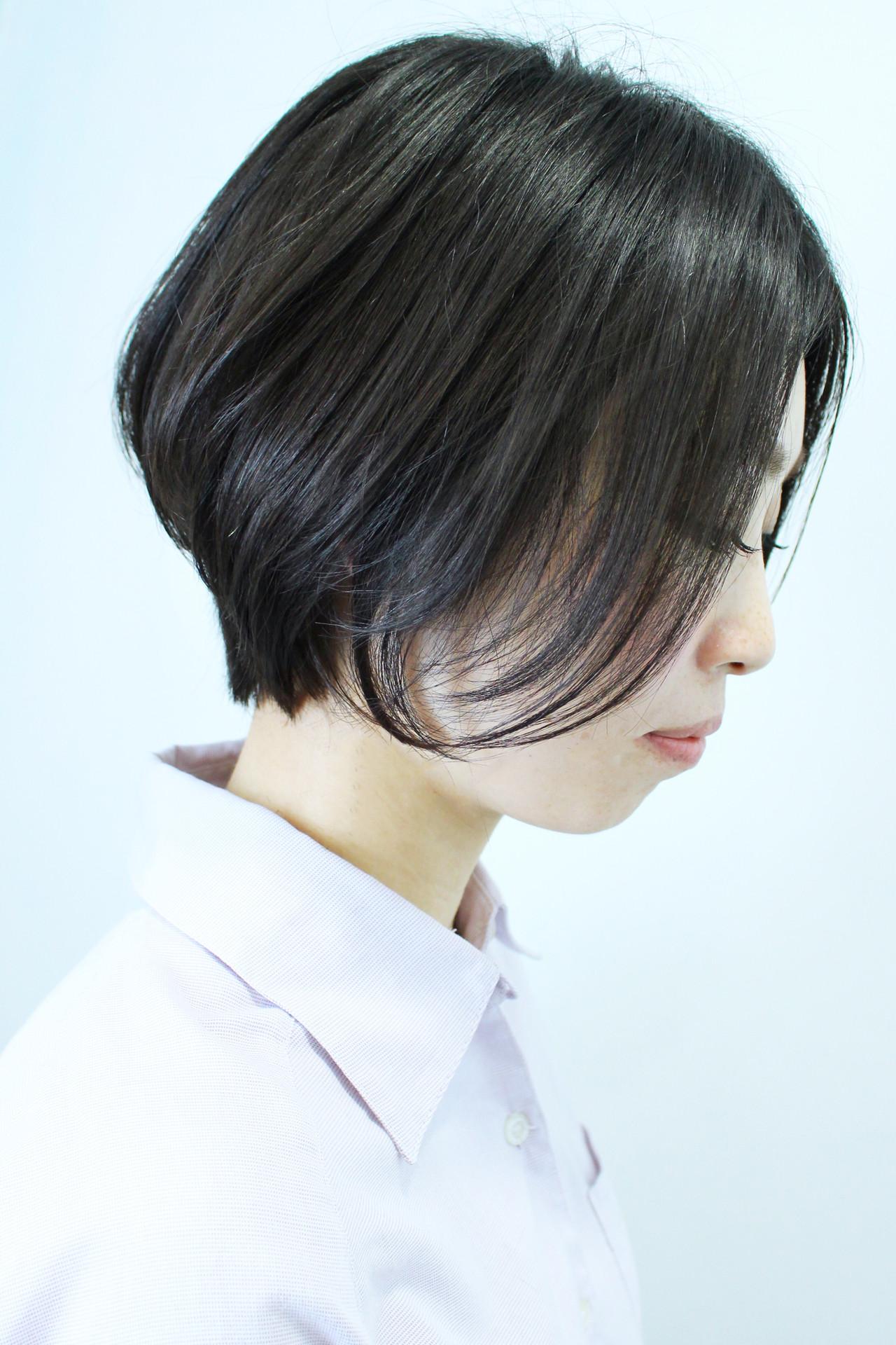 黒髪 オフィス ナチュラル イメチェン ヘアスタイルや髪型の写真・画像