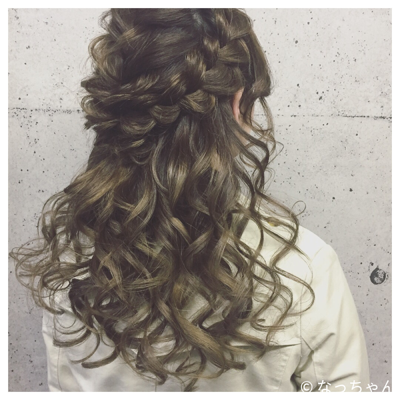 ハーフアップ エレガント 上品 パーティ ヘアスタイルや髪型の写真・画像   なっちゃん / G-girl