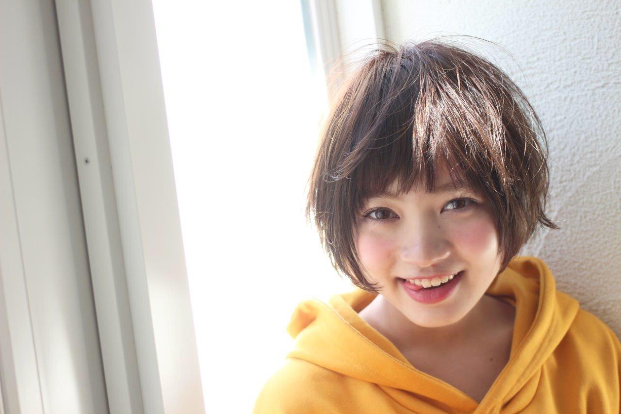 パーマ ボブ ニュアンス 色気 ヘアスタイルや髪型の写真・画像   切りっぱなしボブを流行らせた人 Un ami増永 / Un ami omotesando