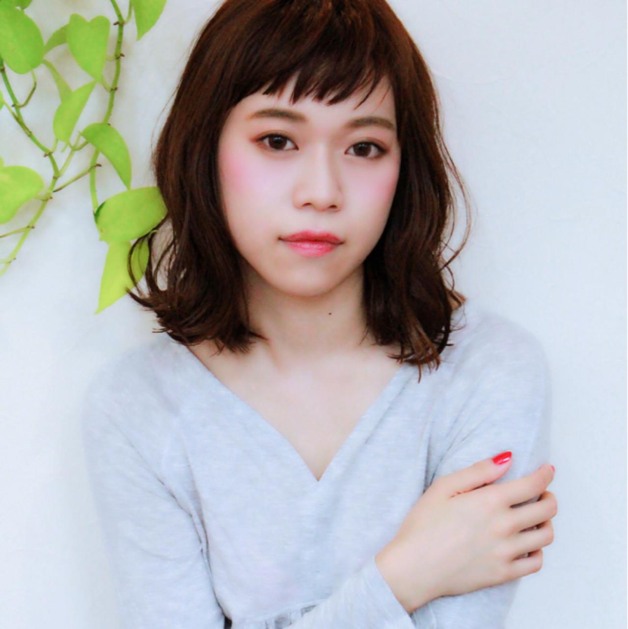 ボブ ゆるふわ ミディアム 大人かわいい ヘアスタイルや髪型の写真・画像 | Mayumi Masumitsu / Arrange