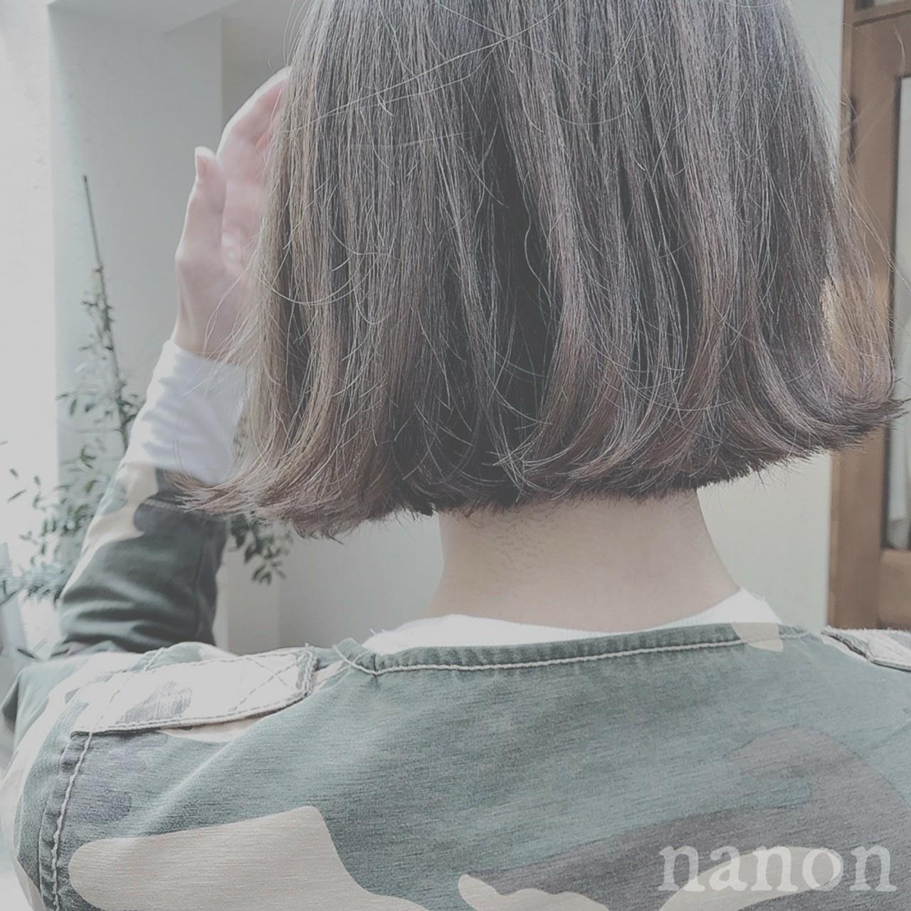 ショート デート フェミニン ボブ ヘアスタイルや髪型の写真・画像