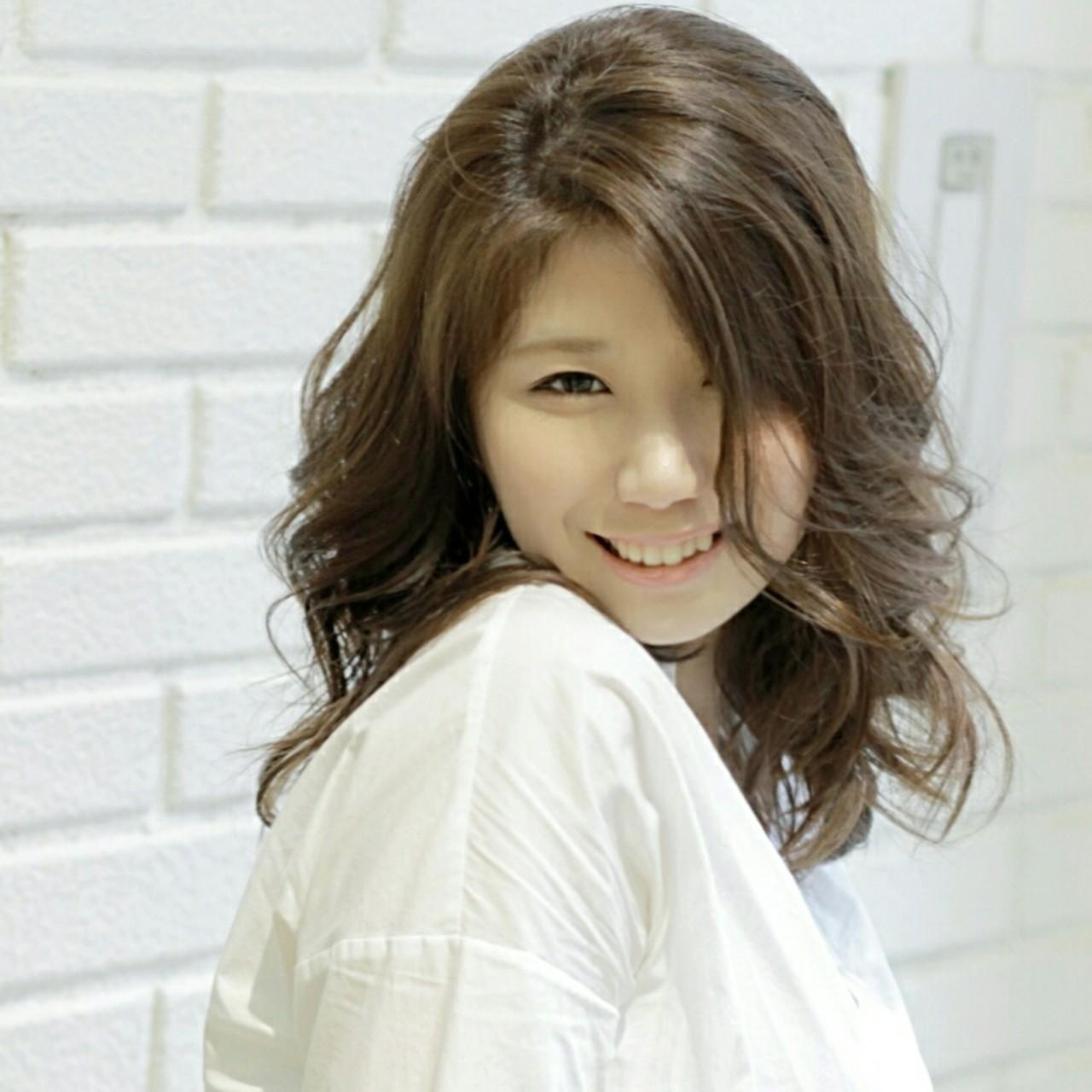 ゆるふわ 外国人風 大人かわいい フェミニン ヘアスタイルや髪型の写真・画像