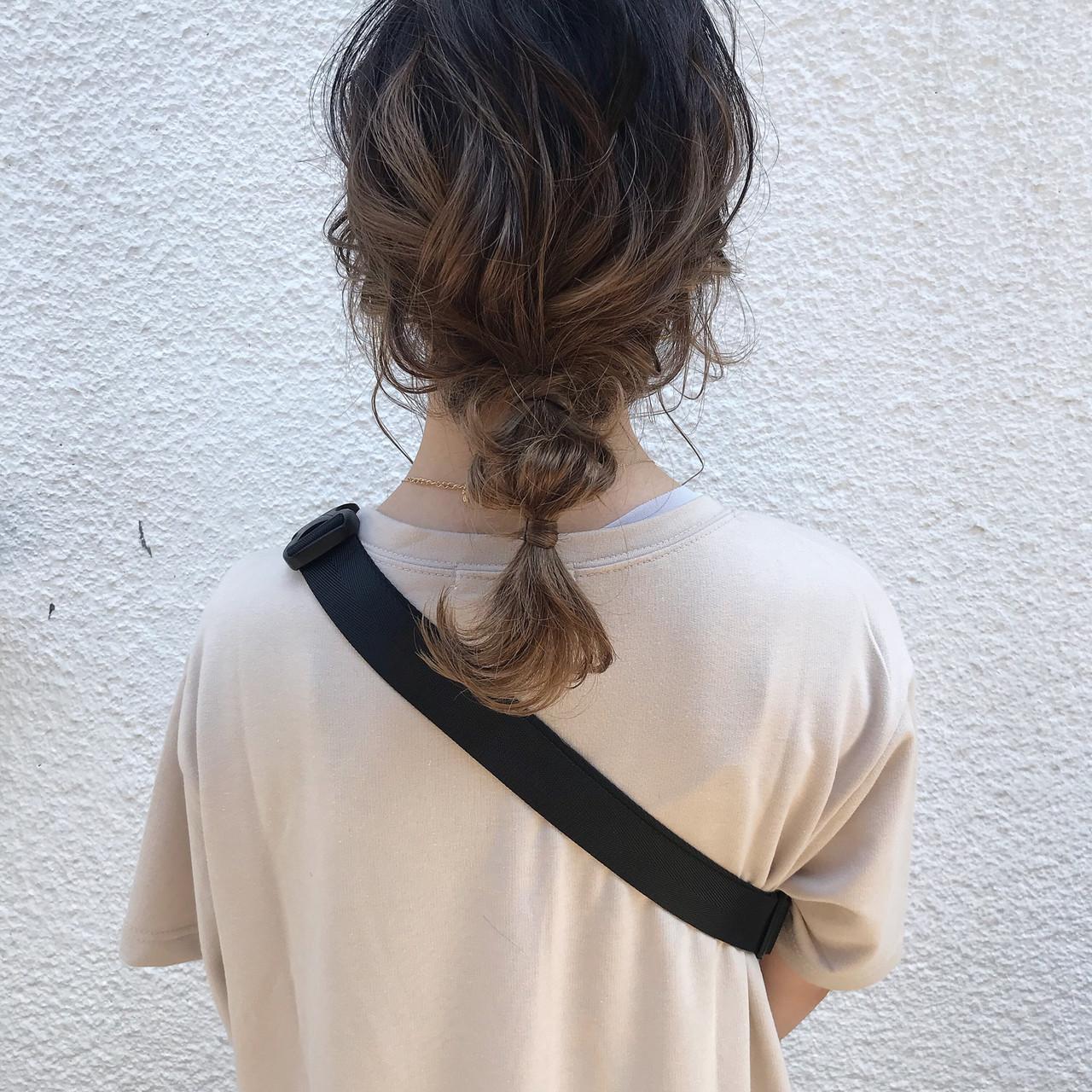 ヘアアレンジ ガーリー セミロング お呼ばれヘア ヘアスタイルや髪型の写真・画像