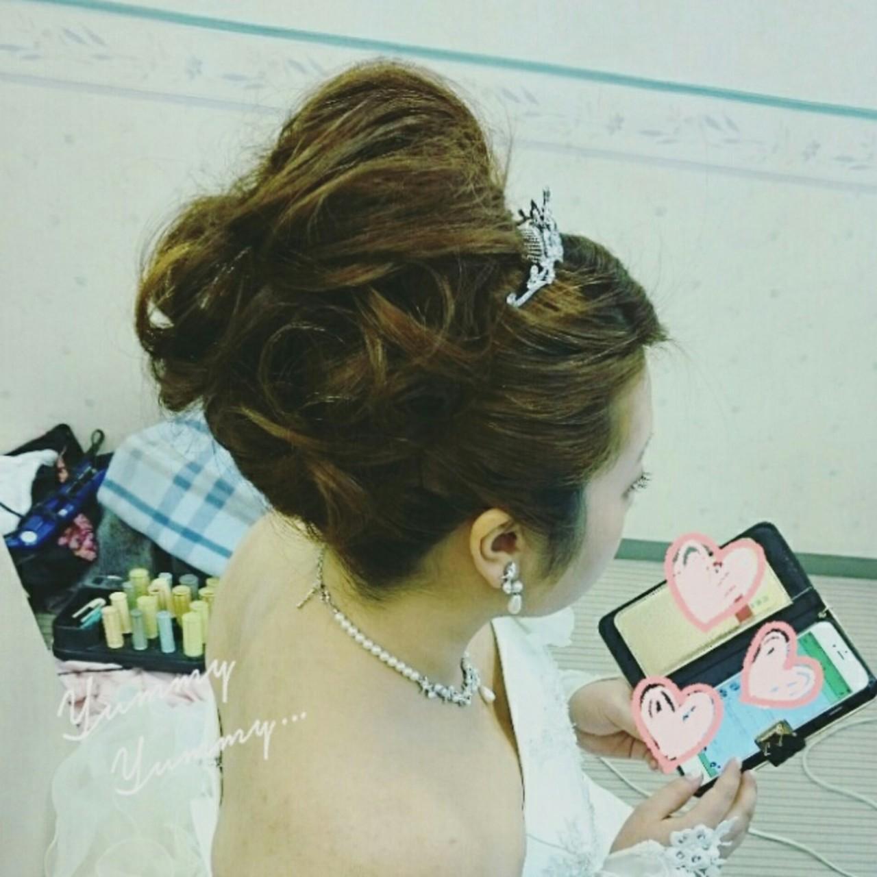 ヘアアレンジ 結婚式 ブライダル ゆるふわ ヘアスタイルや髪型の写真・画像 | 美和遥 FITZ(フィッツ) / 富士美容院 FITZ (フィッツ)