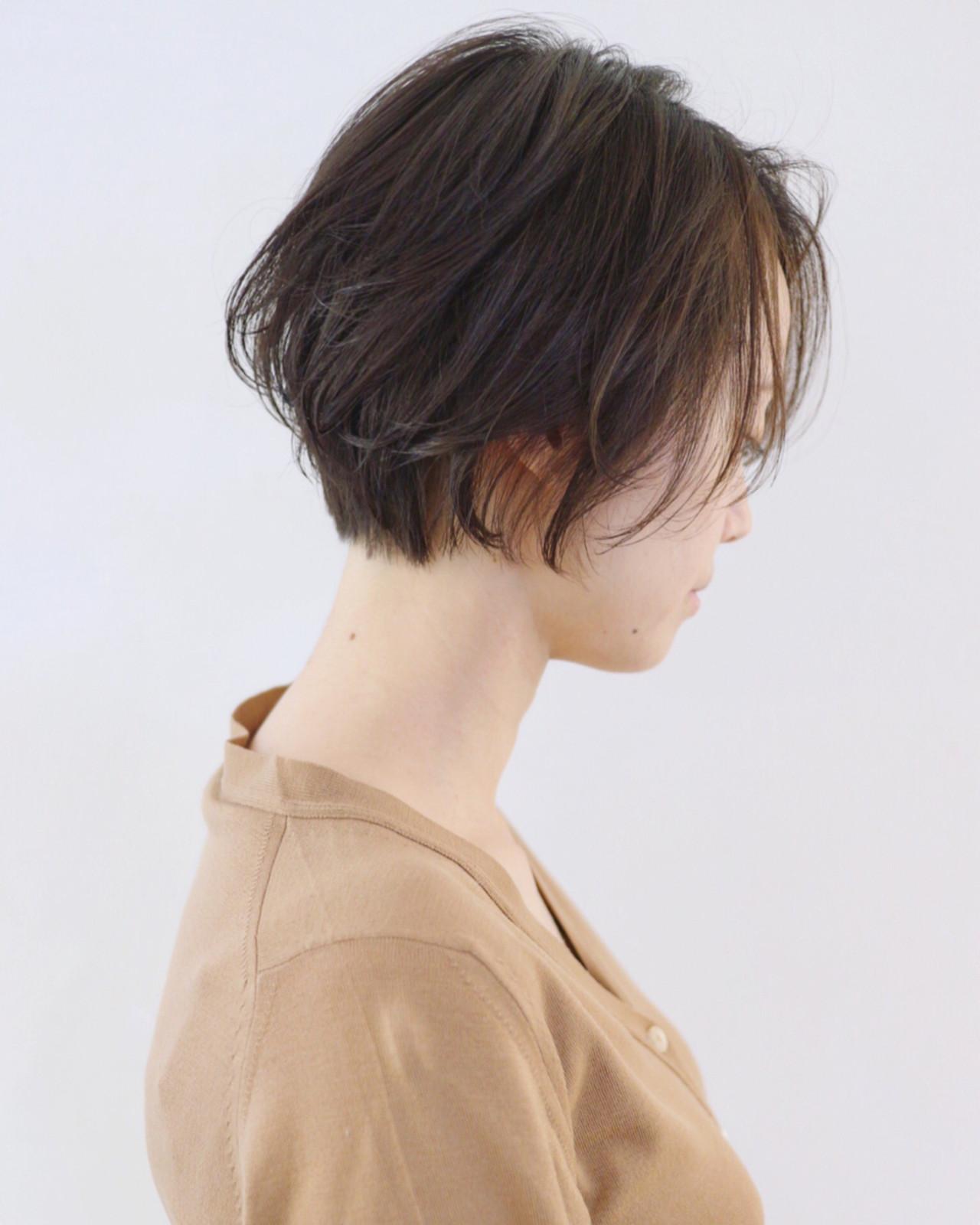ウェーブ パーマ ナチュラル ショート ヘアスタイルや髪型の写真・画像 | 三好 佳奈美 / Baco.(バコ)
