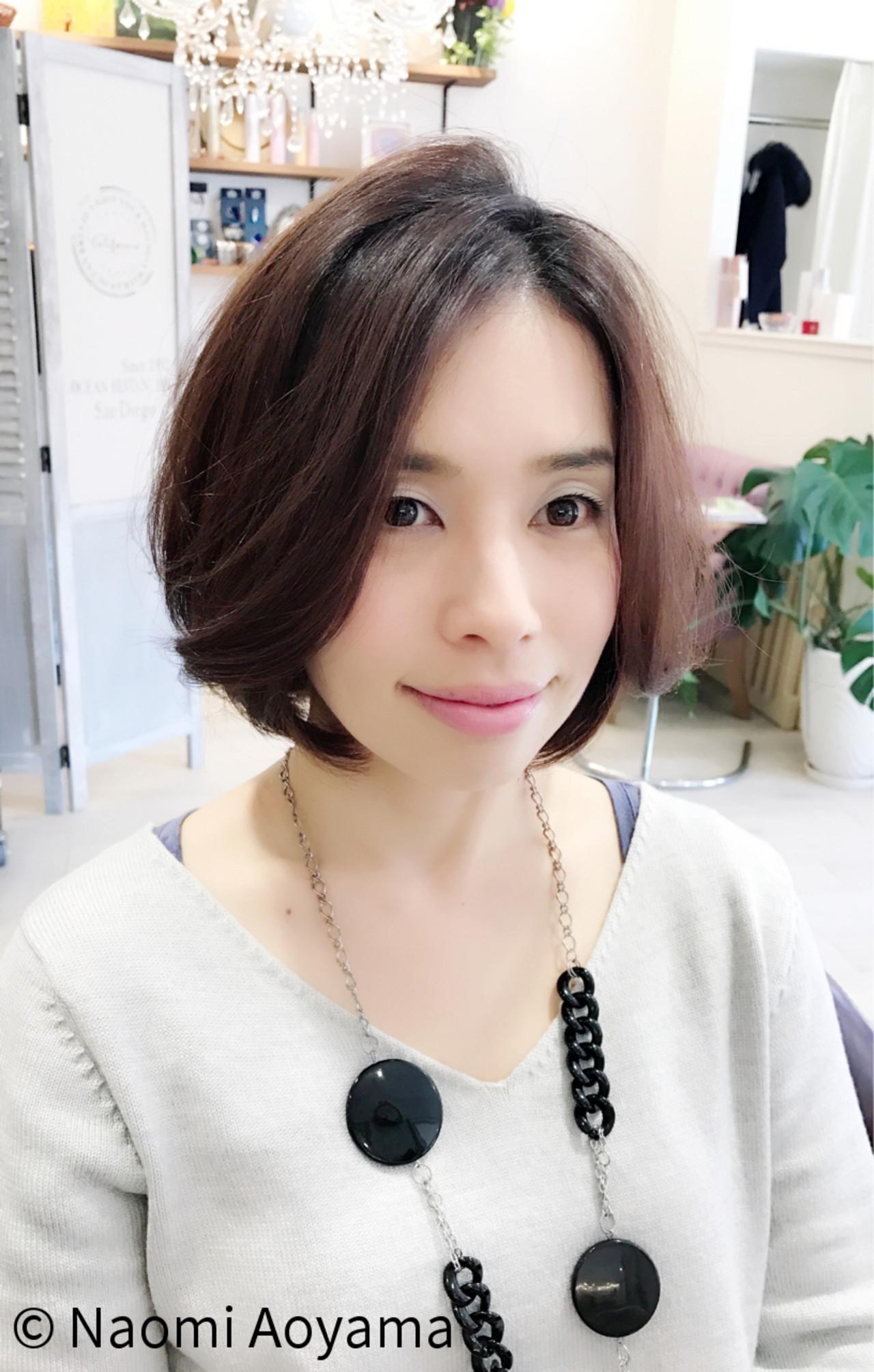 ナチュラル 上品 エレガント 大人女子 ヘアスタイルや髪型の写真・画像 | Nao / fresca