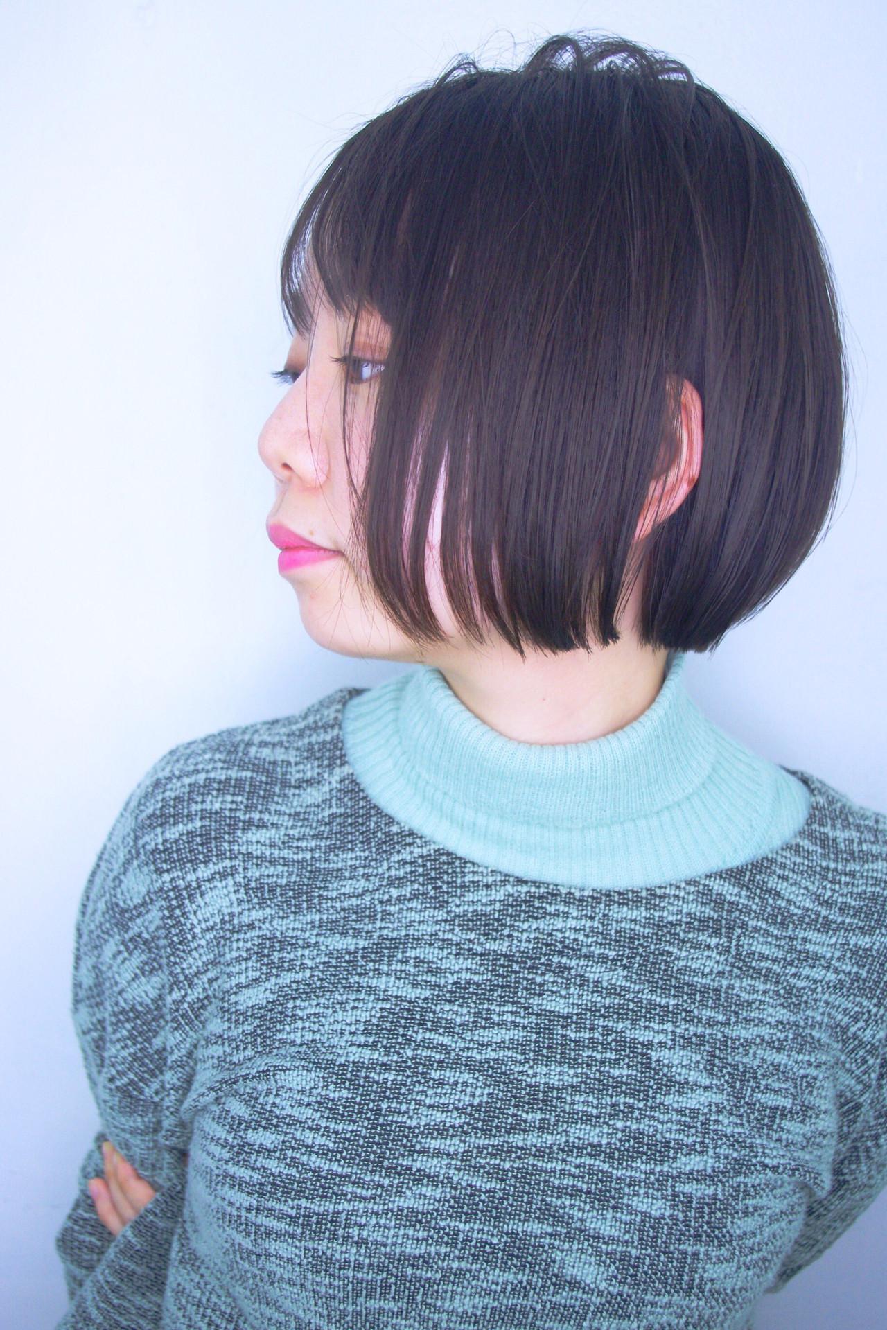 ナチュラル オフィス デート ボブ ヘアスタイルや髪型の写真・画像 | 日平 海 / モリオフロムロンドン 池袋店
