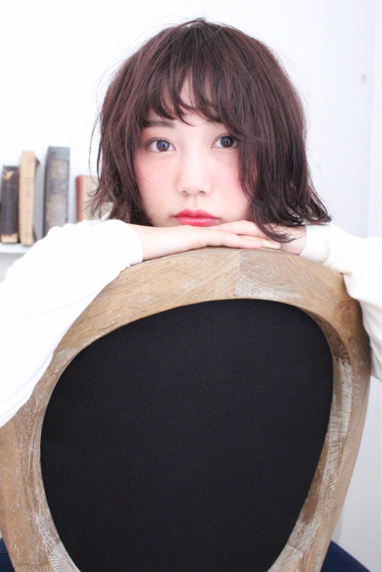 前髪あり 外国人風 ゆるふわ パーマ ヘアスタイルや髪型の写真・画像