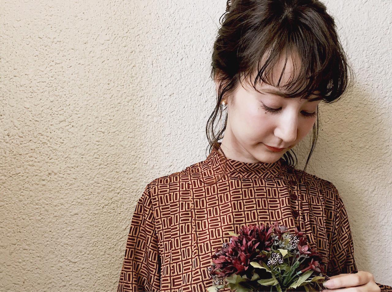 ミディアム ショート 簡単ヘアアレンジ 大人女子 ヘアスタイルや髪型の写真・画像