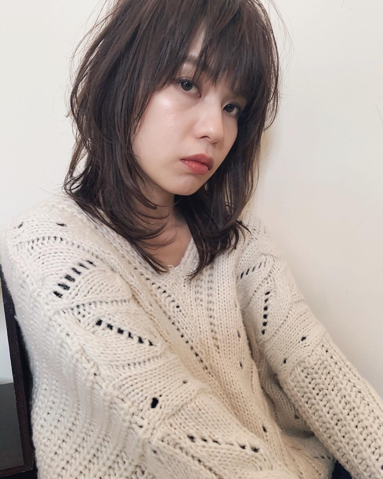 アンニュイほつれヘア ナチュラル 大人かわいい ミディアム ヘアスタイルや髪型の写真・画像   yumiko/sapporoSKNOW / SKNOW