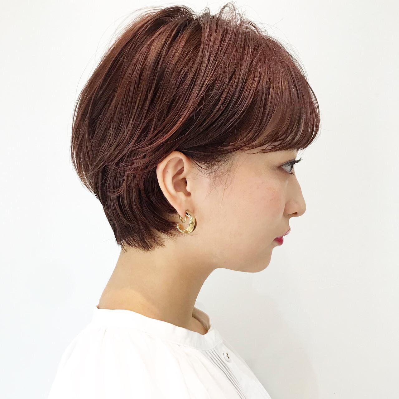 オフィス ナチュラル ショート ヘアアレンジ ヘアスタイルや髪型の写真・画像 | 大人可愛い【ショート・ボブが得意】つばさ / VIE