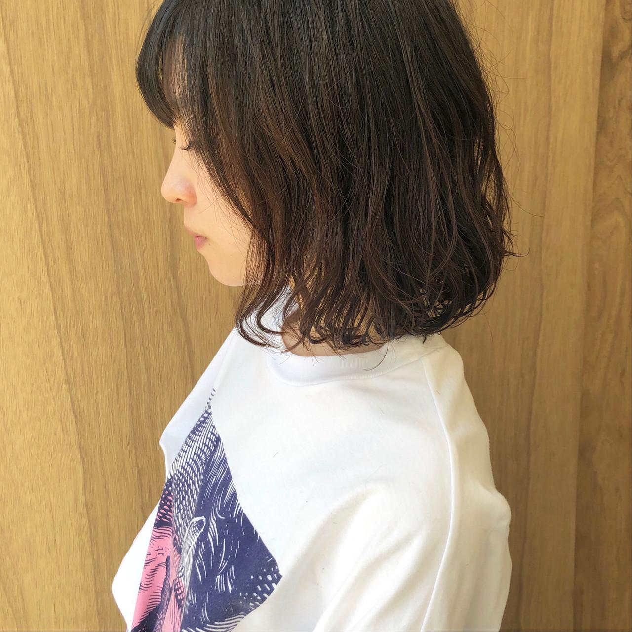 ボブ 外ハネボブ ミニボブ フェミニン ヘアスタイルや髪型の写真・画像