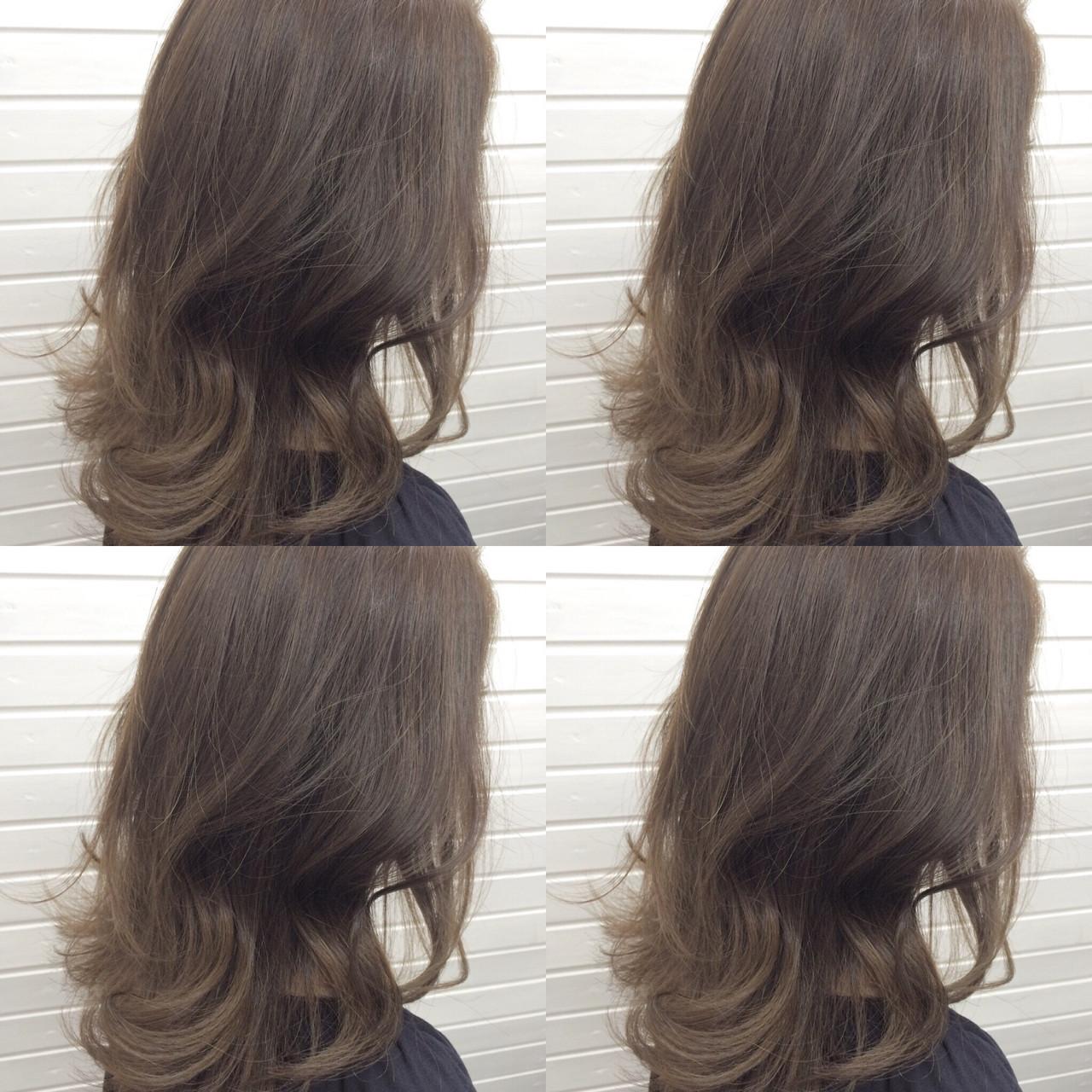 ナチュラル イルミナカラー 外国人風 セミロング ヘアスタイルや髪型の写真・画像 | universe / hairspaceuniverse