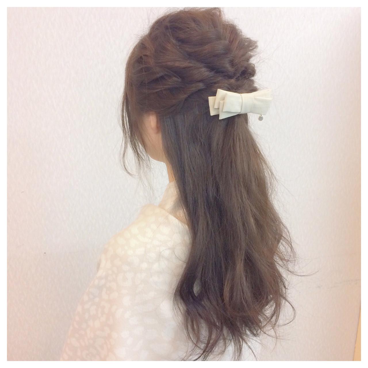 簡単ヘアアレンジ 大人かわいい 大人女子 ロング ヘアスタイルや髪型の写真・画像 | ヤマナカサトル / DIOR of Hair