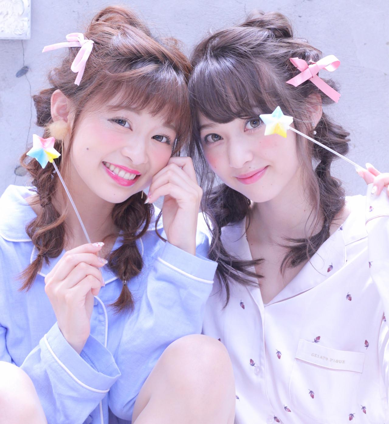 セミロング 簡単ヘアアレンジ くるりんぱ ショート ヘアスタイルや髪型の写真・画像 | Wataru Maeda / cache cache
