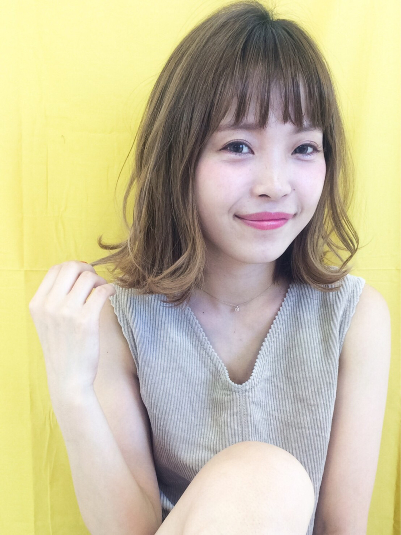 ヘアアレンジ ミディアム 大人女子 フェミニン ヘアスタイルや髪型の写真・画像 | yuka /