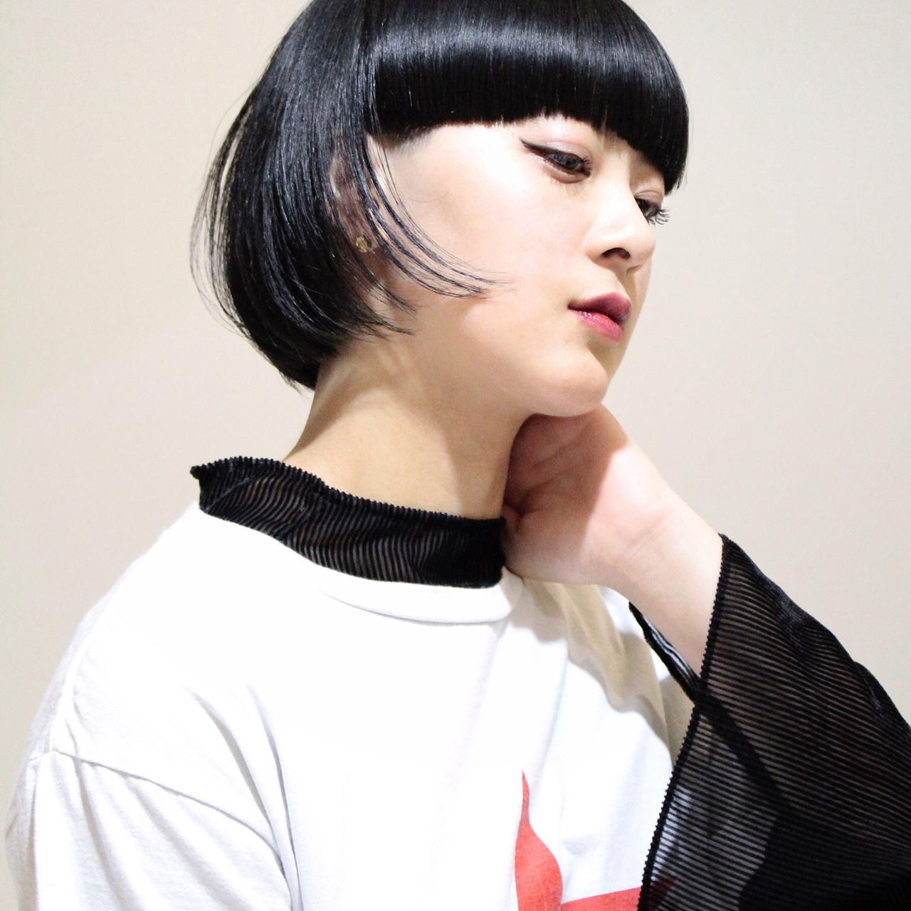 ボブ ストリート 大人女子 色気 ヘアスタイルや髪型の写真・画像 | 関 / Boa sorte