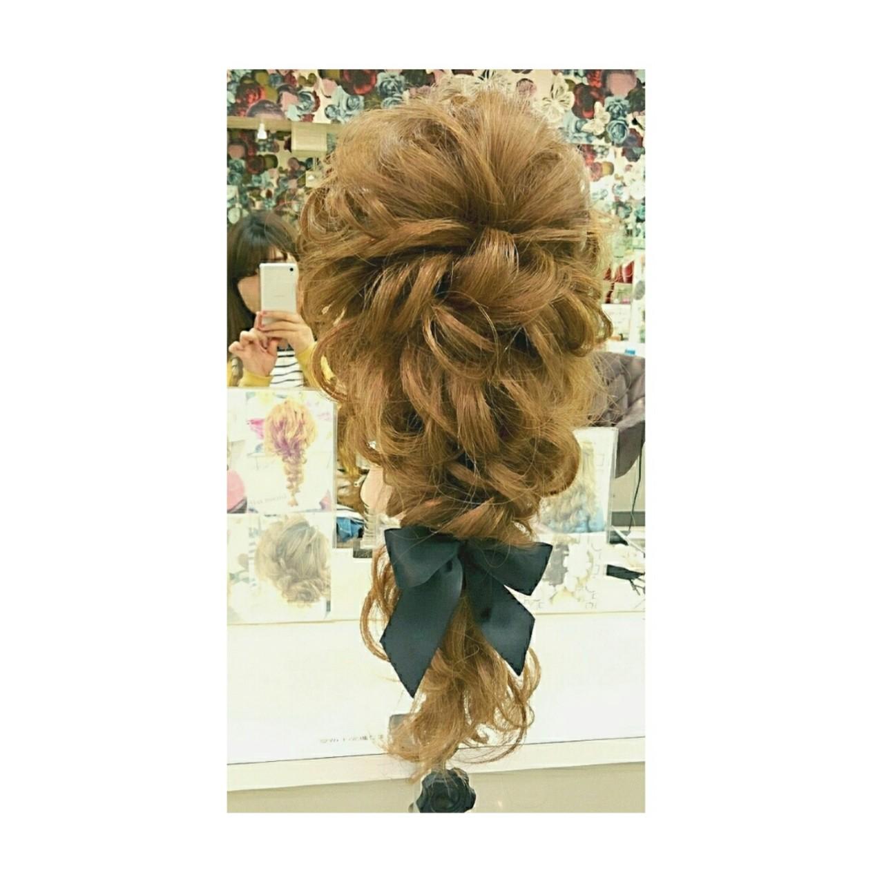 ヘアアレンジ 大人かわいい フェミニン 簡単ヘアアレンジ ヘアスタイルや髪型の写真・画像 | chisa* / CURE
