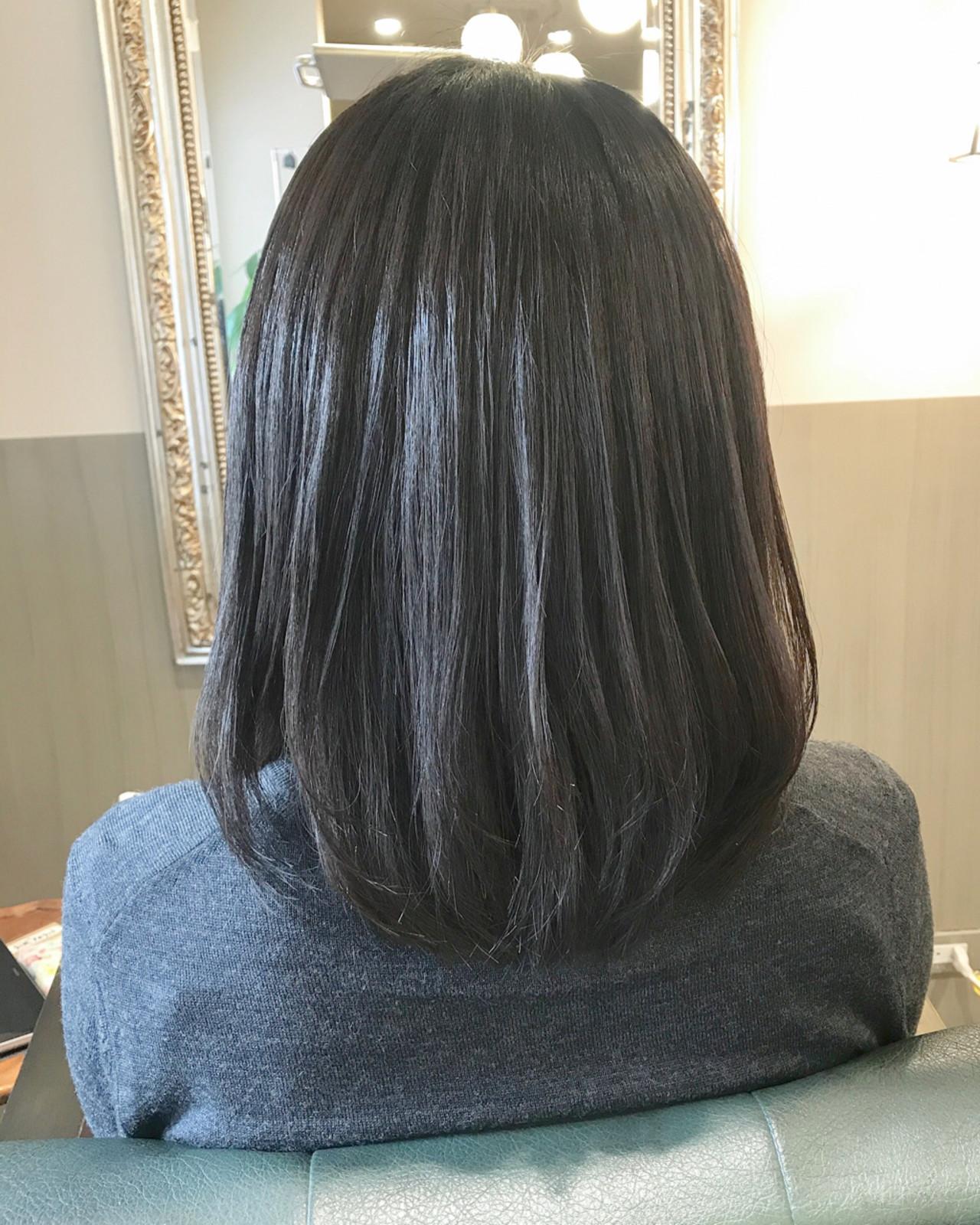マット 黒髪 大人女子 ボブ ヘアスタイルや髪型の写真・画像 | 伊藤絵里子 / moon hair styling salon