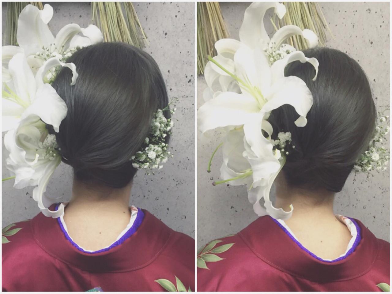 ヘアアレンジ 振袖 成人式 ロング ヘアスタイルや髪型の写真・画像