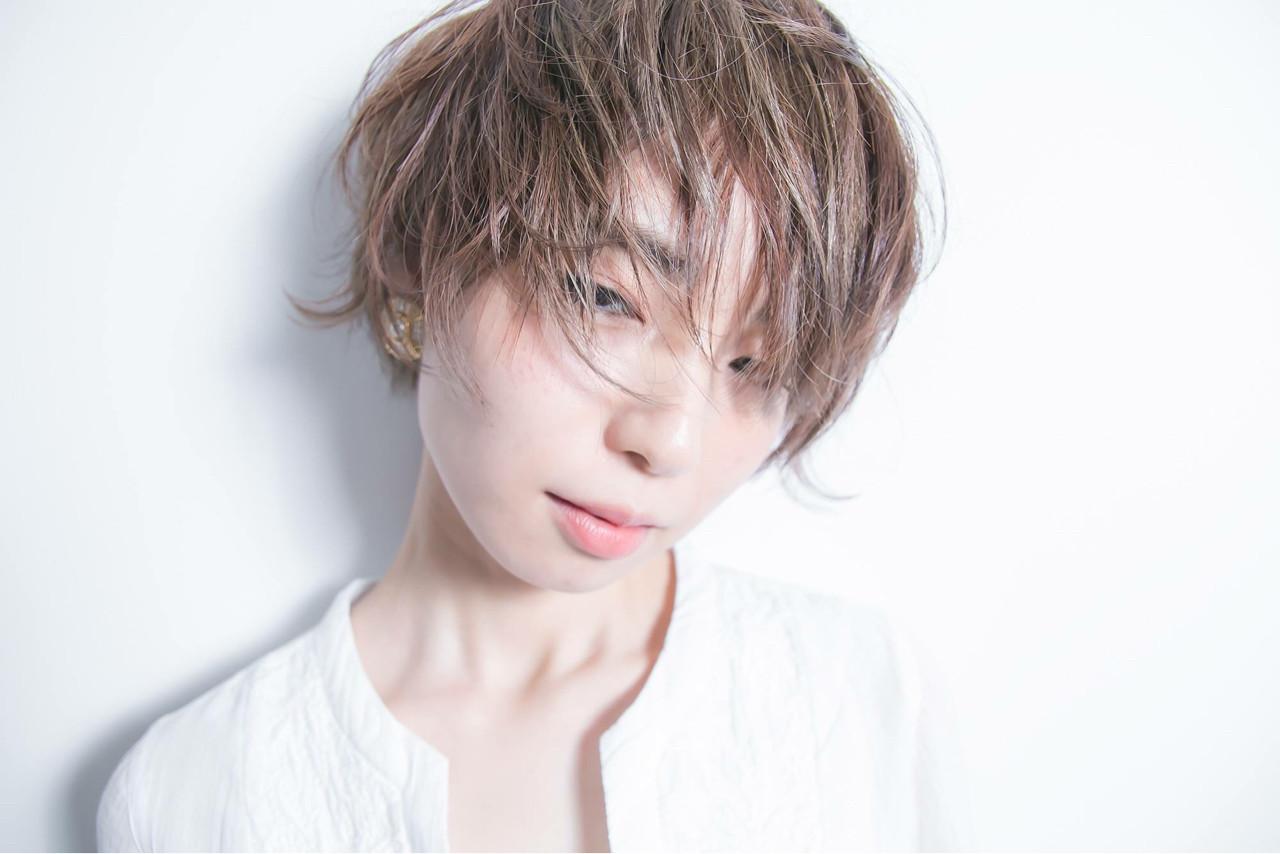 アッシュグレージュ グレージュ ショート ウェットヘア ヘアスタイルや髪型の写真・画像   清野 晃 / Lucile/ Well