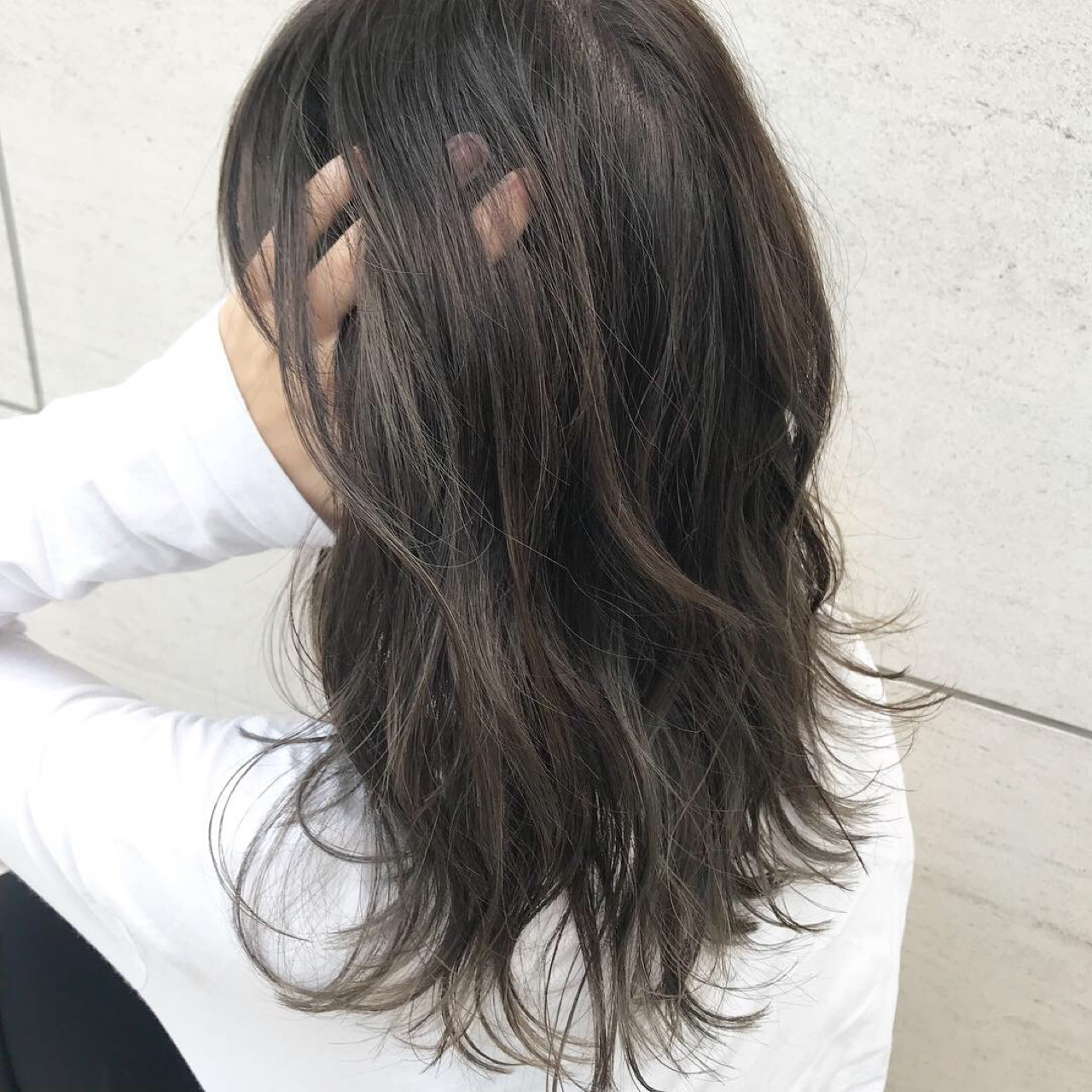 アンニュイ ナチュラル ウェーブ ハイライト ヘアスタイルや髪型の写真・画像