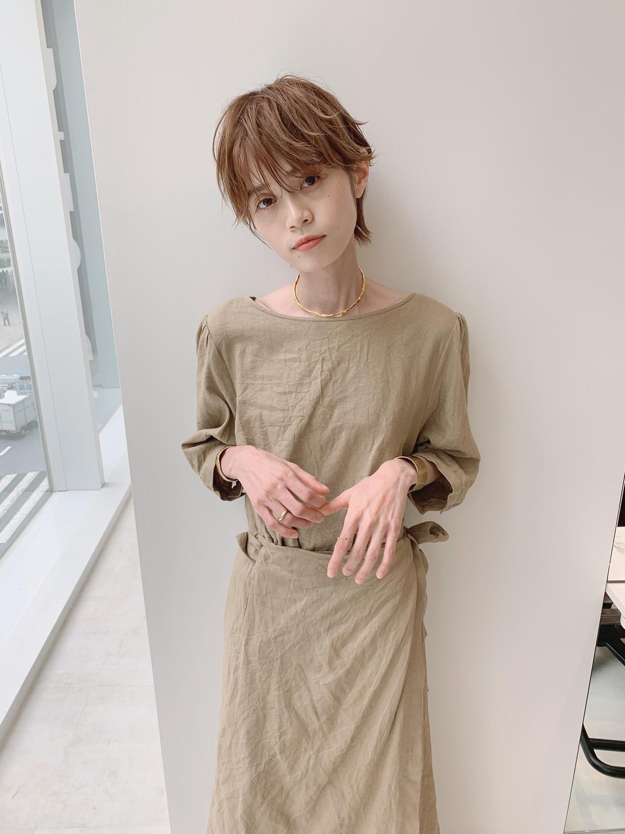 大人女子 ハンサムショート ショート パーマ ヘアスタイルや髪型の写真・画像 | 石田浩之 / lano by hair