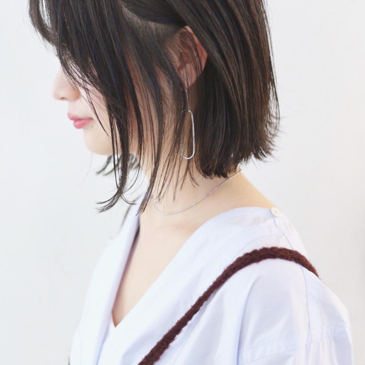 ストレート ボブ 抜け感 外ハネボブ ヘアスタイルや髪型の写真・画像 | 三好 佳奈美 / Baco.(バコ)