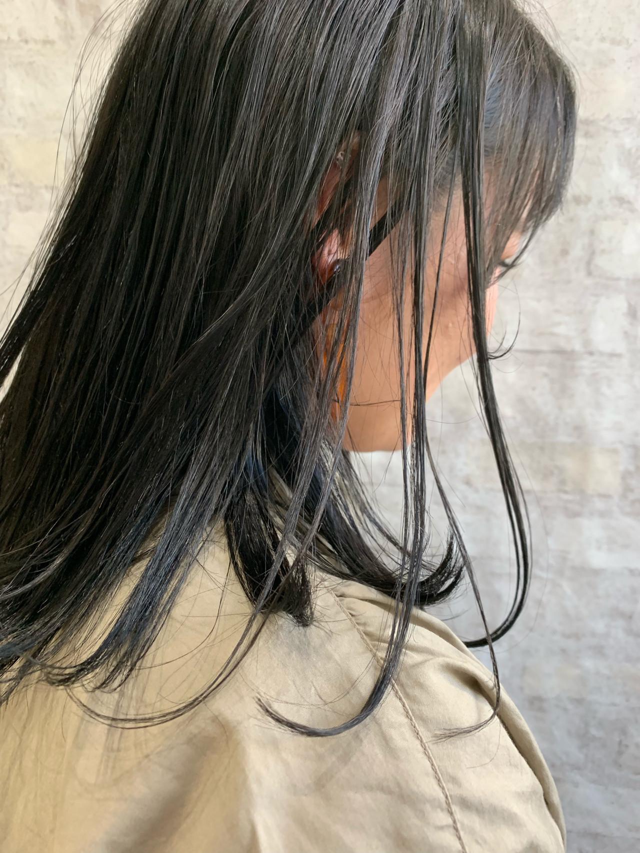 黒髪 ナチュラル ワンカールスタイリング ボブ ヘアスタイルや髪型の写真・画像