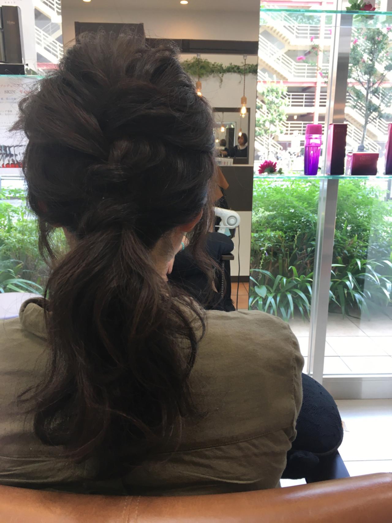 ショート ポニーテール ヘアアレンジ 簡単 ヘアスタイルや髪型の写真・画像 | 大谷 伶美 / brace / soin de brace