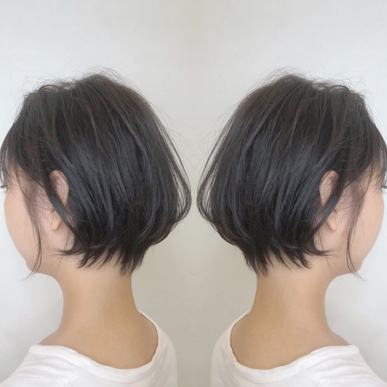 ガーリー ハンサムショート 小顔ショート ショート ヘアスタイルや髪型の写真・画像