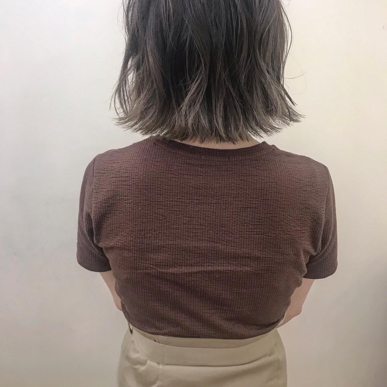 デート アンニュイ ナチュラル ボブ ヘアスタイルや髪型の写真・画像 | yumiko/sapporoSKNOW / SKNOW