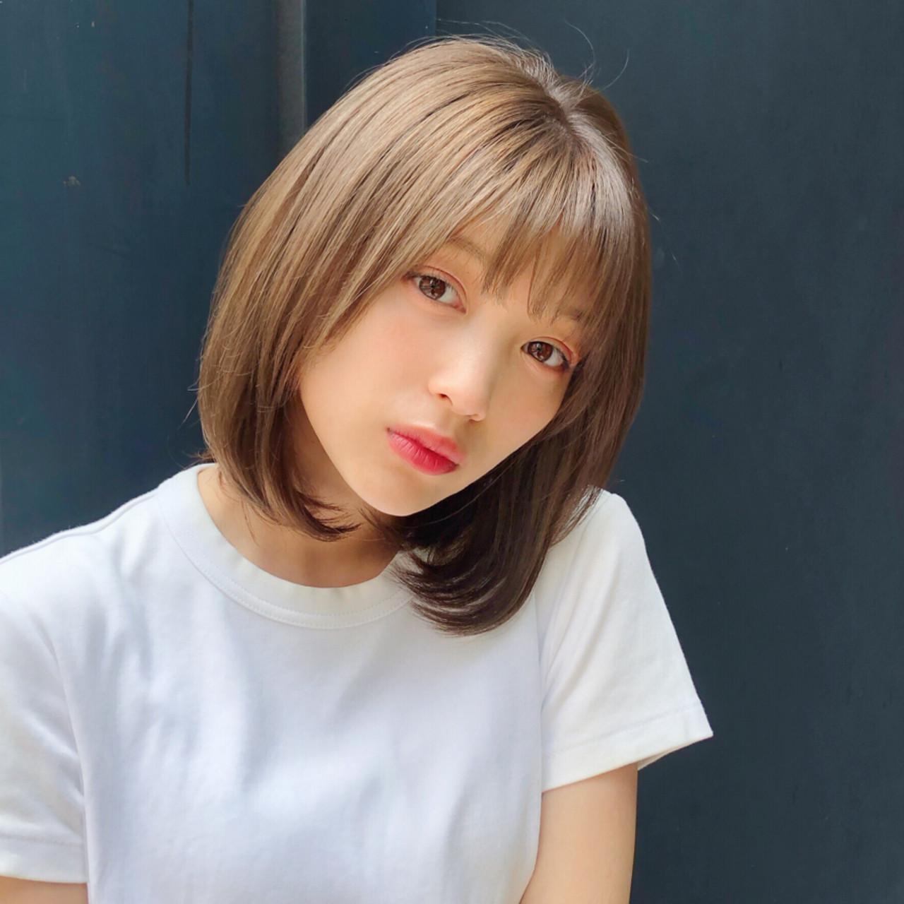 デート パーマ モテボブ ボブ ヘアスタイルや髪型の写真・画像 | 趙 英来 (よん) / nex