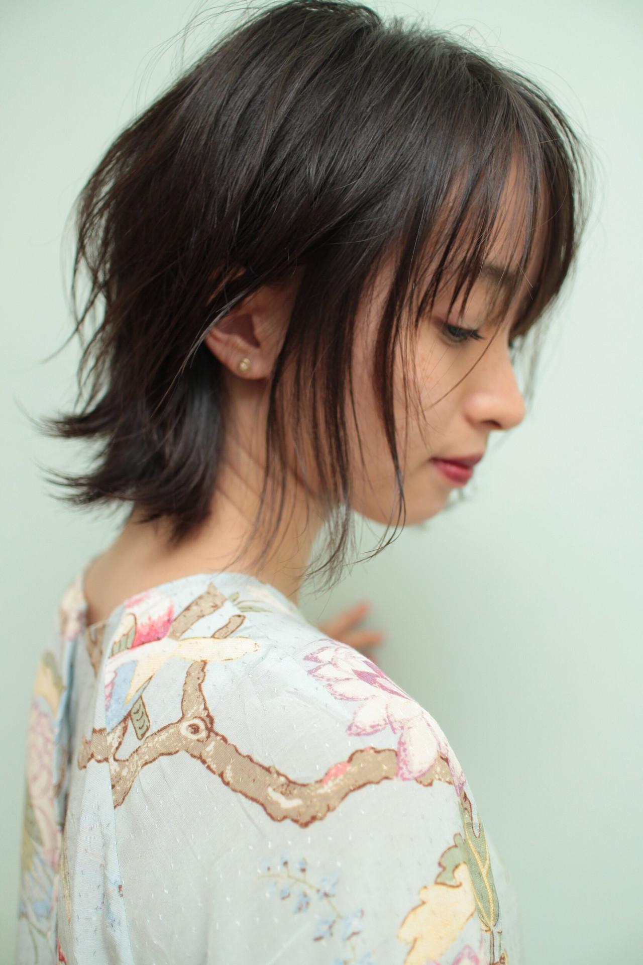 フェミニン 外ハネボブ ボブ 外ハネ ヘアスタイルや髪型の写真・画像